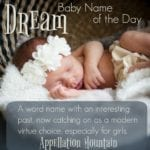 Dream: Baby Name of the Day