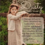 Dusty: Baby Name of the Day