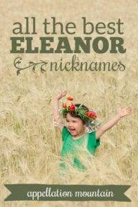 Eleanor nicknames