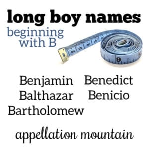 Long Boy Names: B