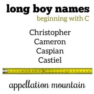 Long Boy Names: C