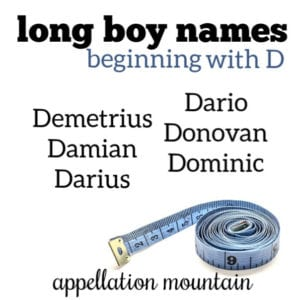 Long Boy Names: D