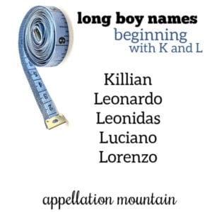 Long Boy Names: K and L