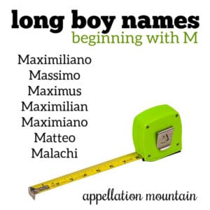 Long Boy Names: M