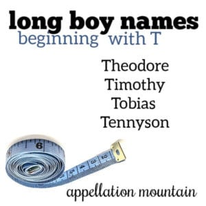 Long Boy Names: T