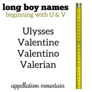Long Boy Names: U and V
