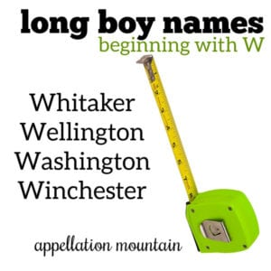 Long Boy Names: W