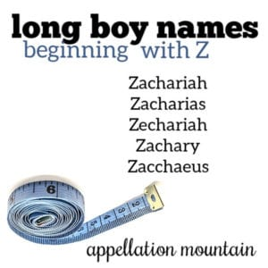 Long Boy Names: Z