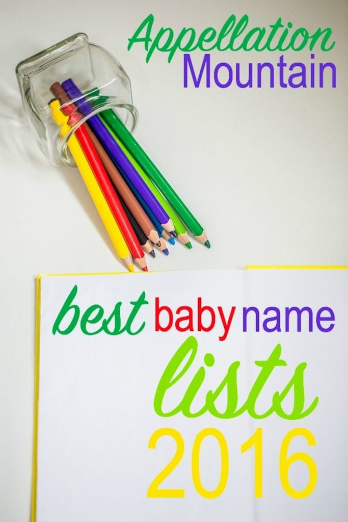 Best Baby Name Lists 2016