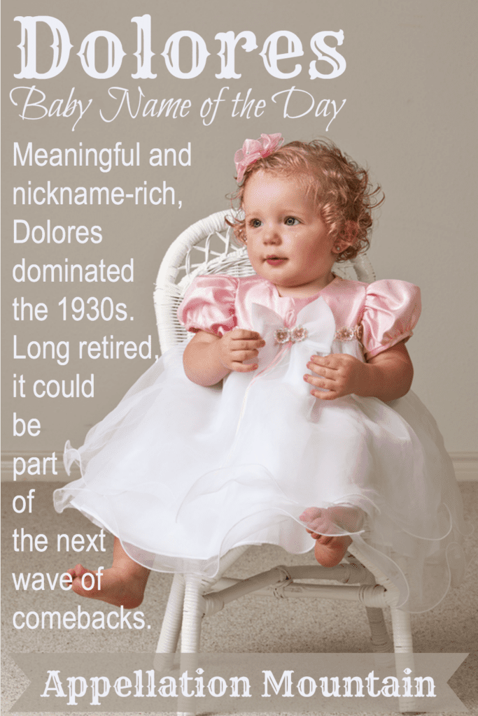 Dolores: Baby Name of the Day