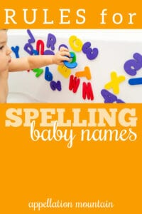 spelling baby names