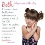 Beth: Baby Name of the Day
