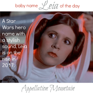 Leia: Baby Name of the Day