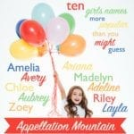 Ten Girls Names More Popular Than You Might Guess