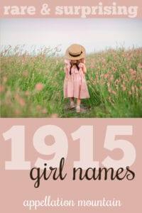 1915 girl names