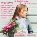 Marlowe: Baby Name of the Day