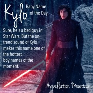 Kylo: Baby Name of the Day