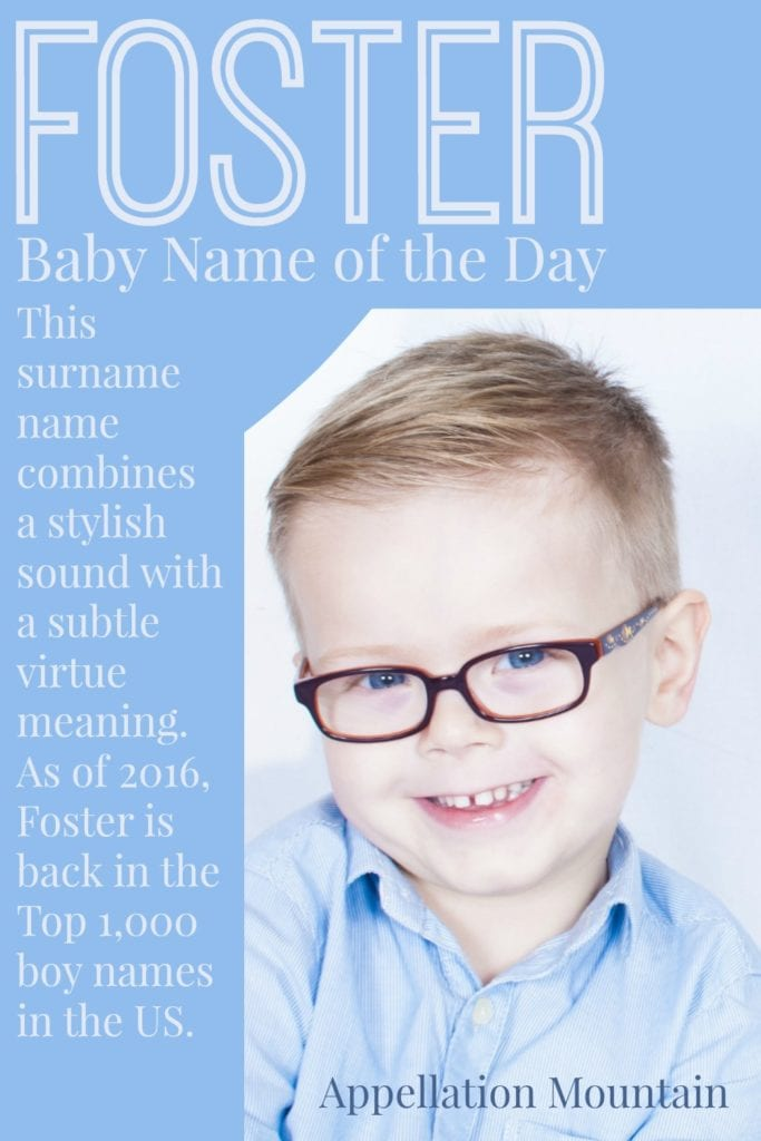Foster: Baby Name of the Day
