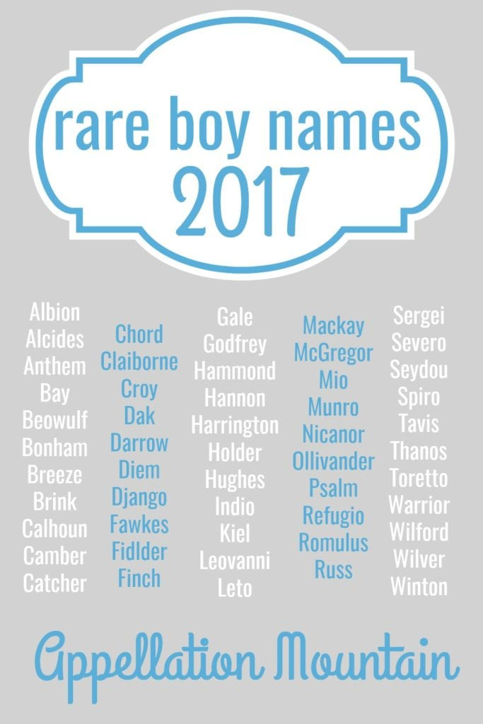 rare boy names 2017 the great eights appellation mountain