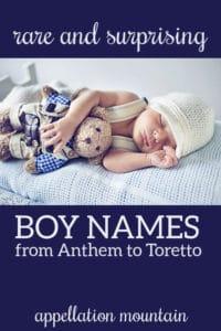 rare boy names