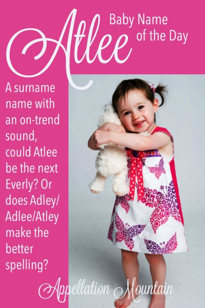 Atlee: Baby Name of the Day