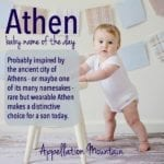 Athen: Baby Name of the Day