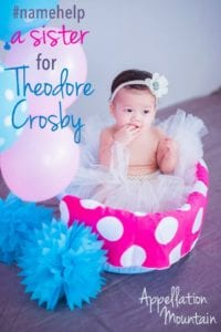 Name Help: A Sister for Theodore Crosby