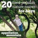 Nature Names for Boys: Most Popular