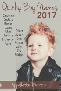 Quirky Boy Names 2017
