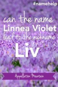 Name Help: Linnea Violet