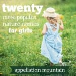 Nature Names for Girls: Most Popular