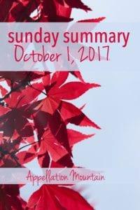 Sunday Summary 10.1.17