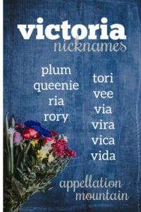 Victoria nicknames