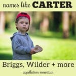 names like Carter