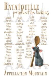 Ratatouille production babies