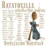 Ratatouille Production Babies: June 2007