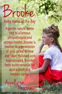 Brooke: Baby Name of the Day