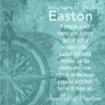 Easton: Baby Name of the Day