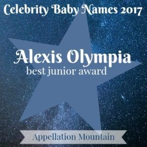 Celebrity Baby Names 2017: Alexis Olympia