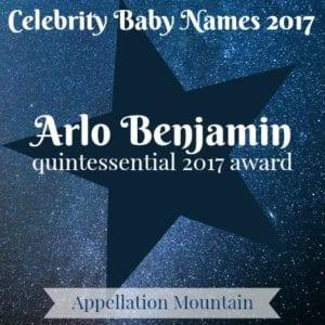 Celebrity Baby Names 2017: Arlo Benjamin