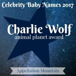 Celebrity Baby Names 2017: Charlie Wolf