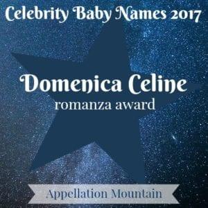 Celebrity Baby Names 2017: Domenica Celine