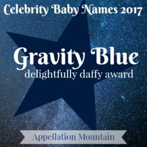 Celebrity Baby Names 2017: Gravity Blue