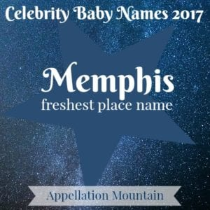 Celebrity Baby Names 2017: Memphis