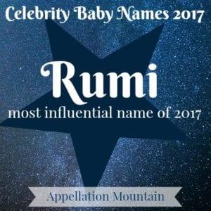 Celebrity Baby Names 2017: Rumi