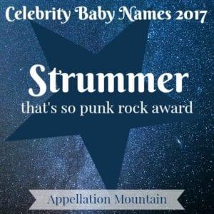 Celebrity Baby Names 2017: Strummer