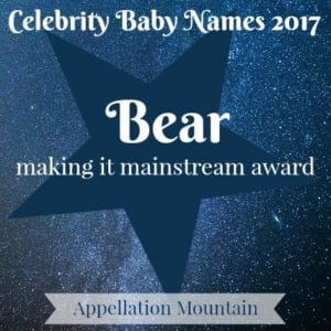Celebrity Baby Names 2017: Bear