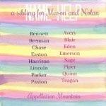 Name Help: Nolan, Mason, and …