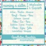 Name Help: A Sister for Malcolm and Gareth