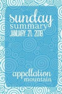 Sunday Summary 1.21.18